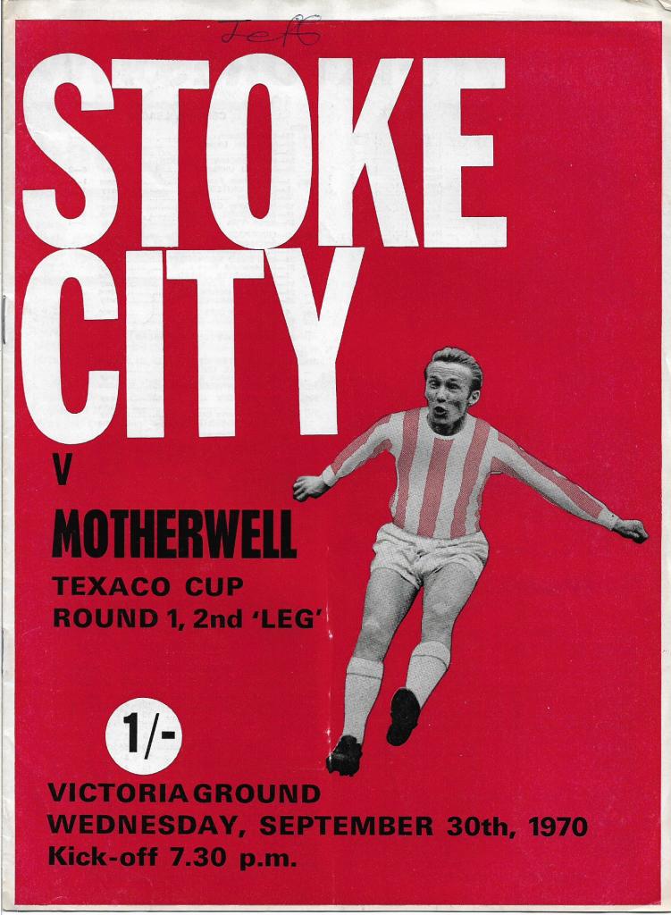 Texaco Cup - Stoke City Programme Cover