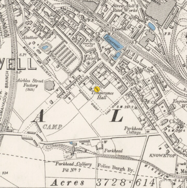 Location of Dalziel Park on Map