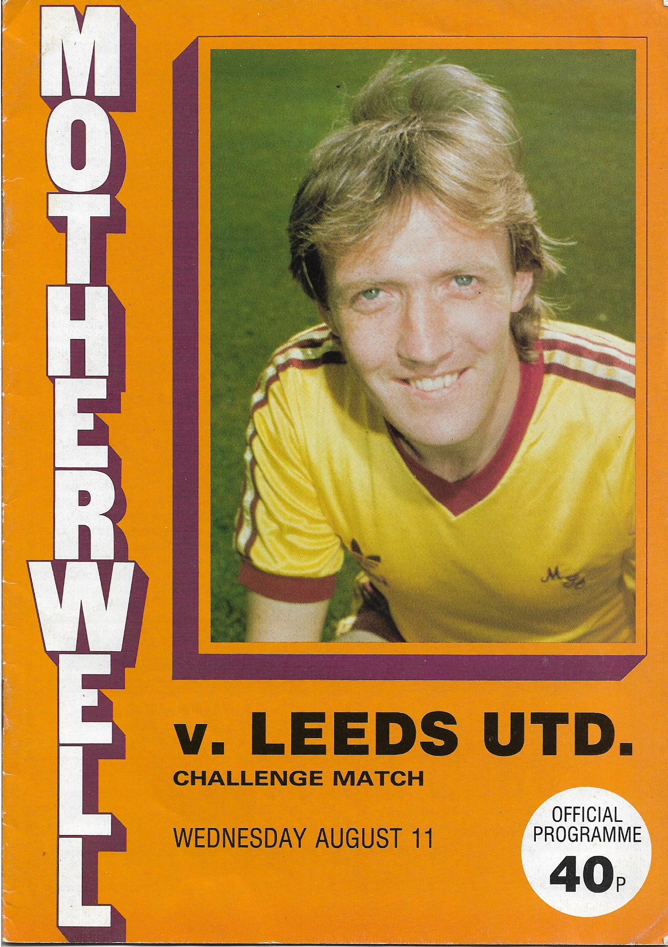 Programme Cover versus Leeds United