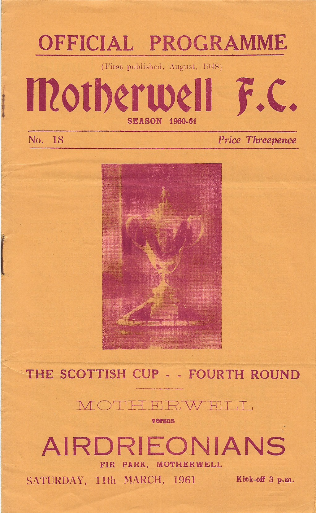 Airdrieonians Programme