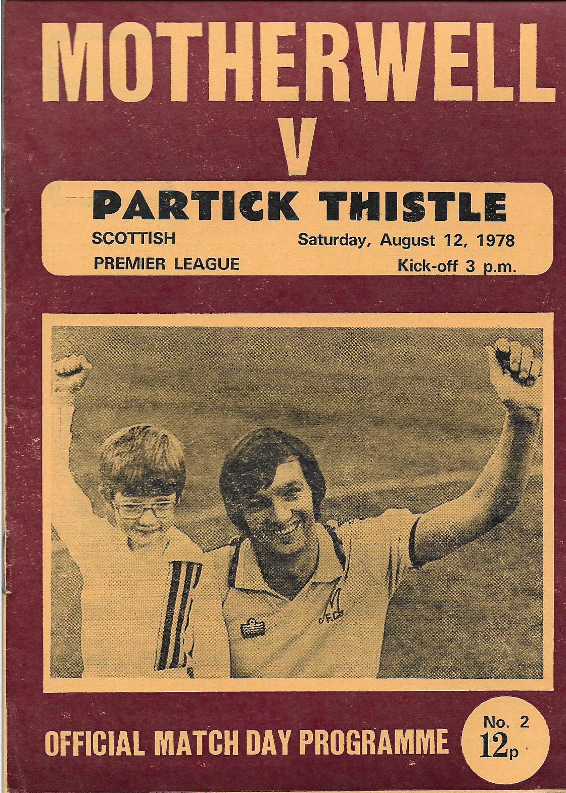 Programme Cover versus Partick Thistle