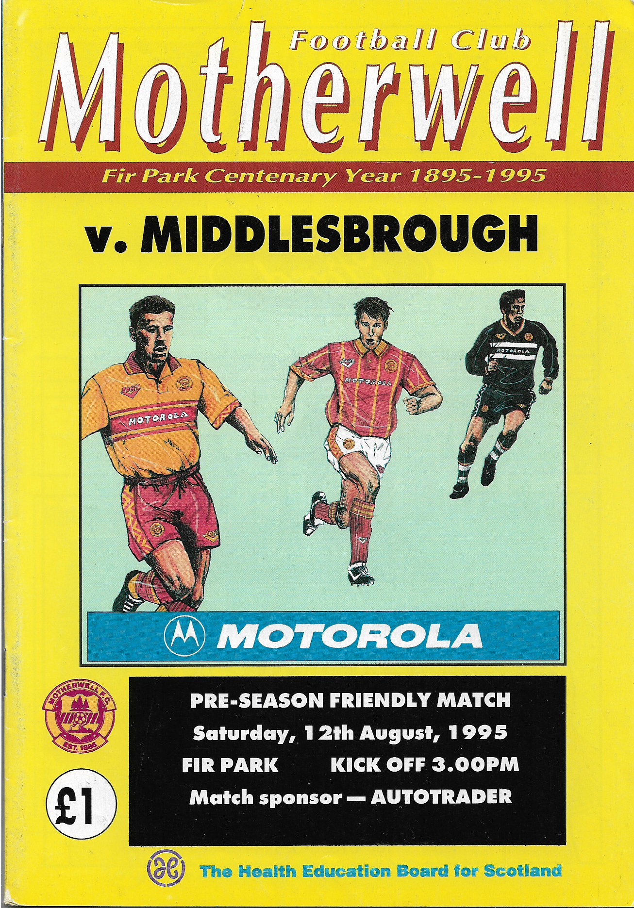 Programme Cover versus Middlesbrough
