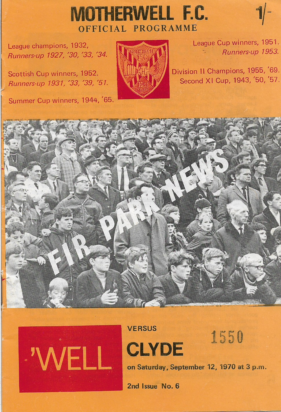 Programme Cover versus Clyde
