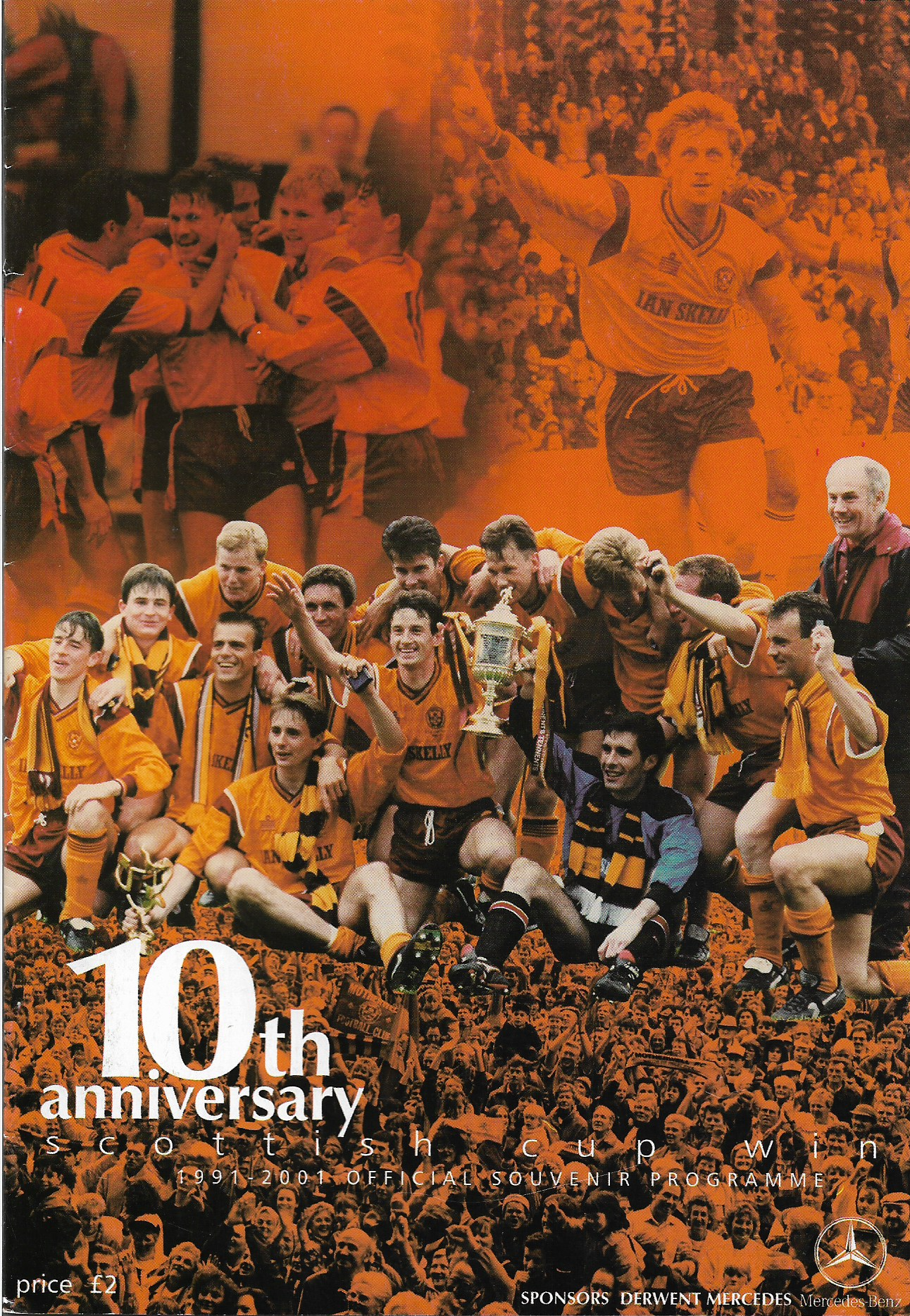 Programme Cover versus 1991 Legends - 10th Anniversary Scottish Cup Win