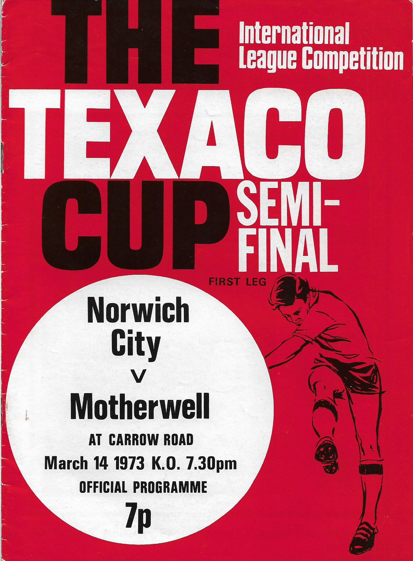 Programme Cover versus Norwich City