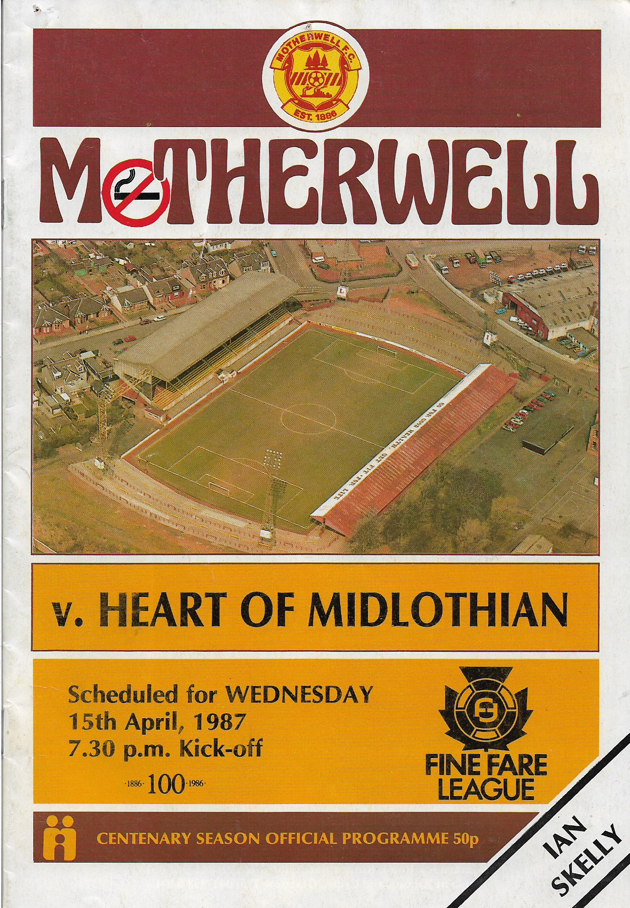 Programme Cover versus Hearts