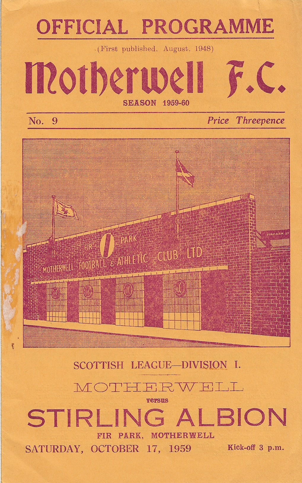 Stirling Albion Programme Cover