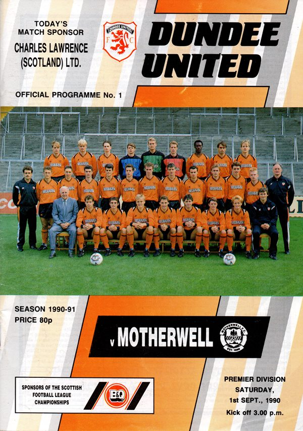 Programme Cover vs Dundee United
