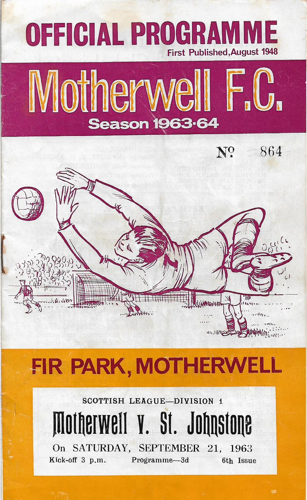 Programme Cover versus St Johnstone
