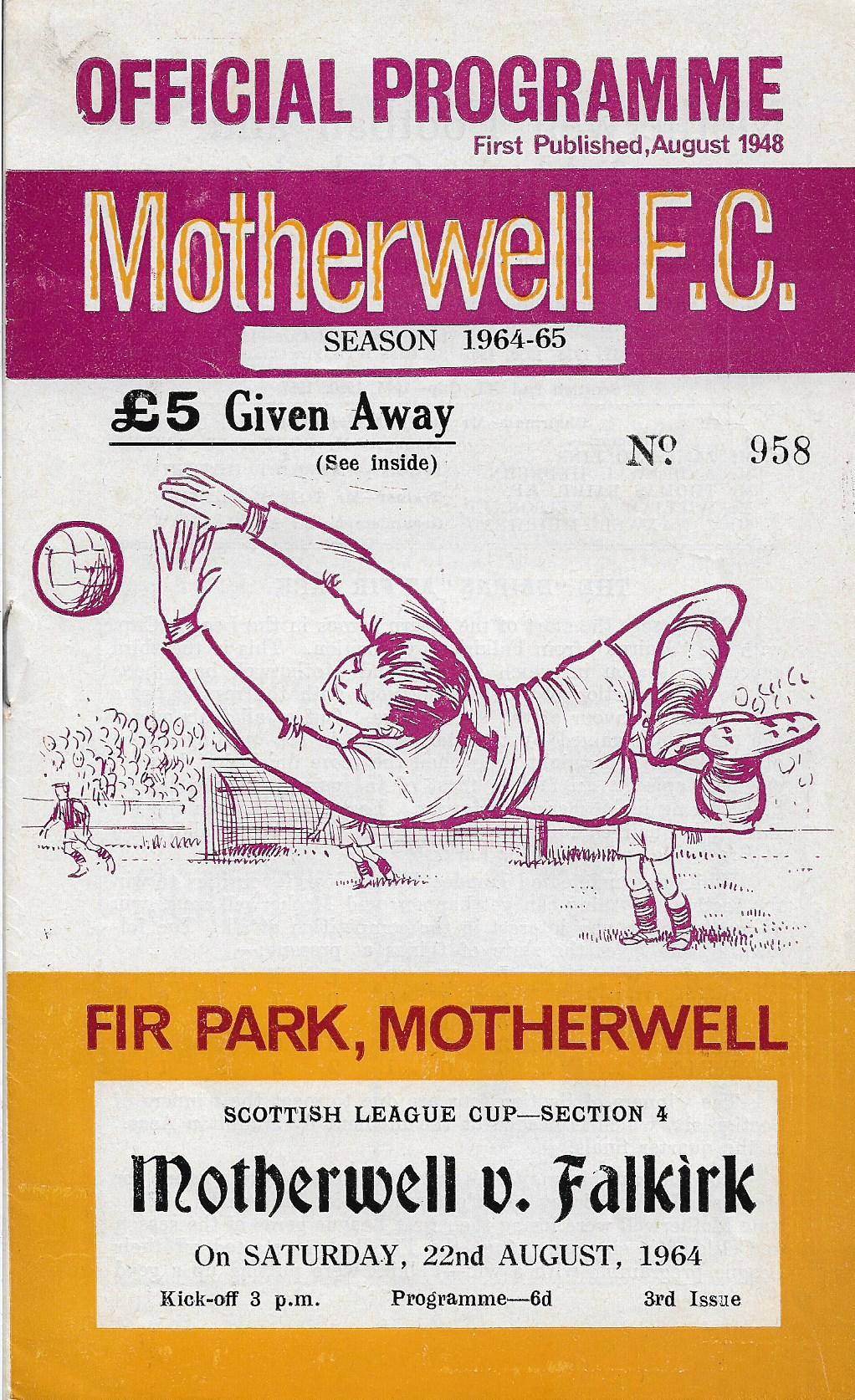 Programme Cover versus Falkirk