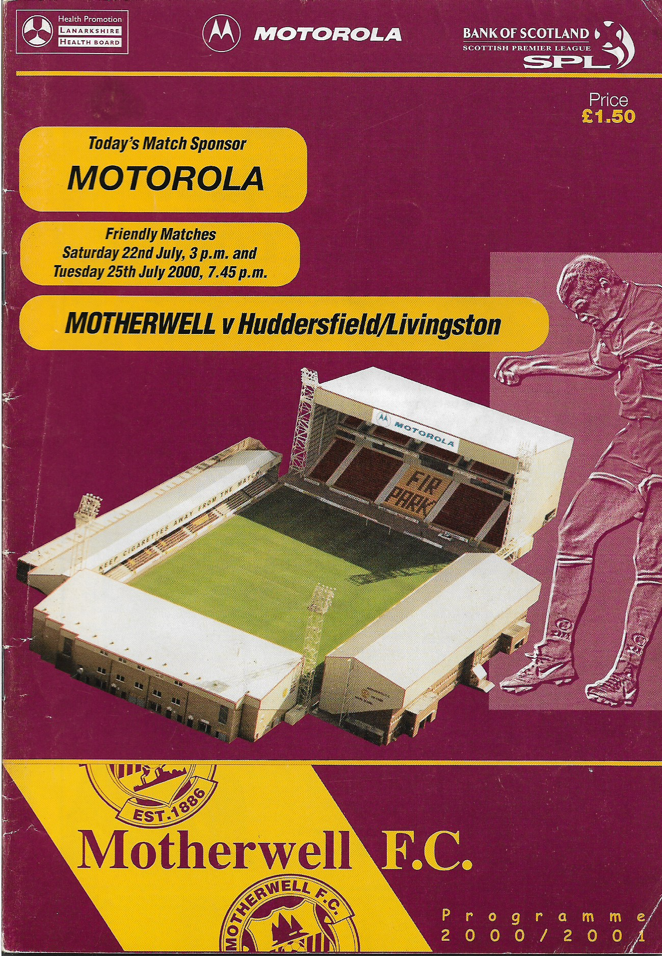 Programme Cover versus Huddersfield Town and Livingston - Duo Edition
