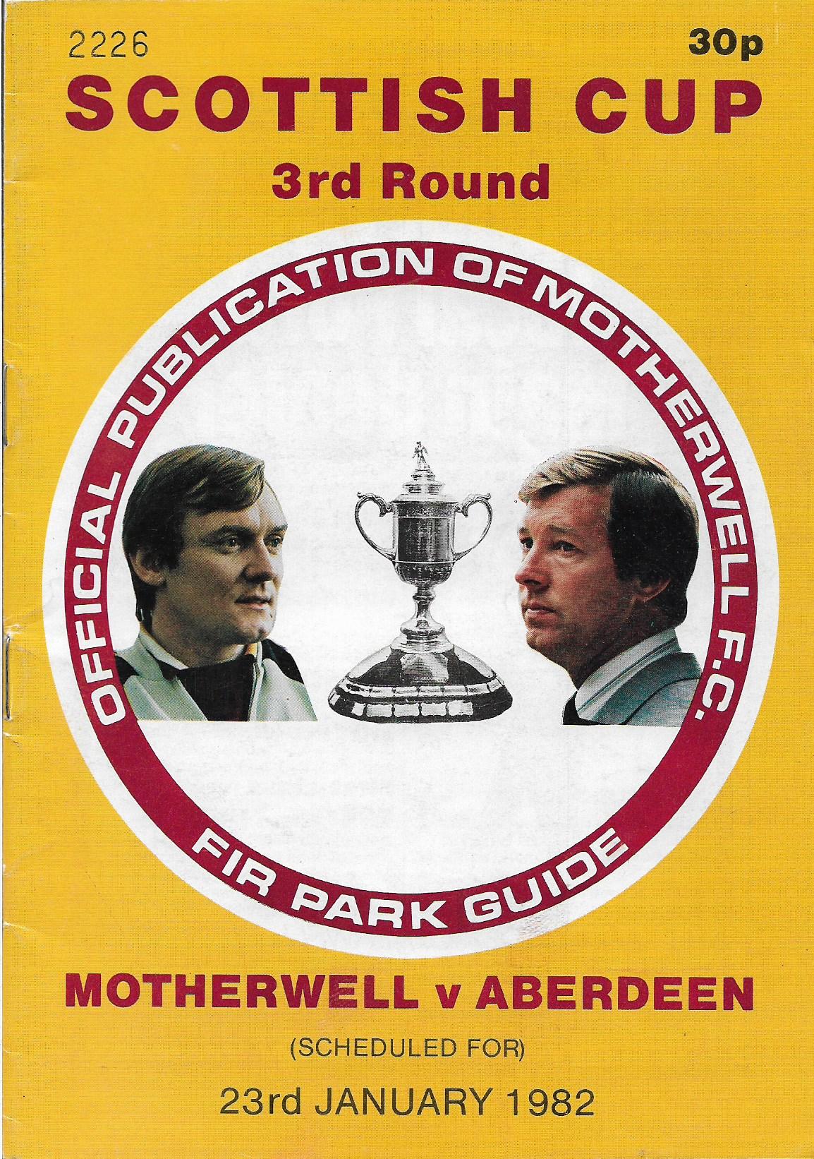 Programme Cover versus Aberdeen - Scottish Cup