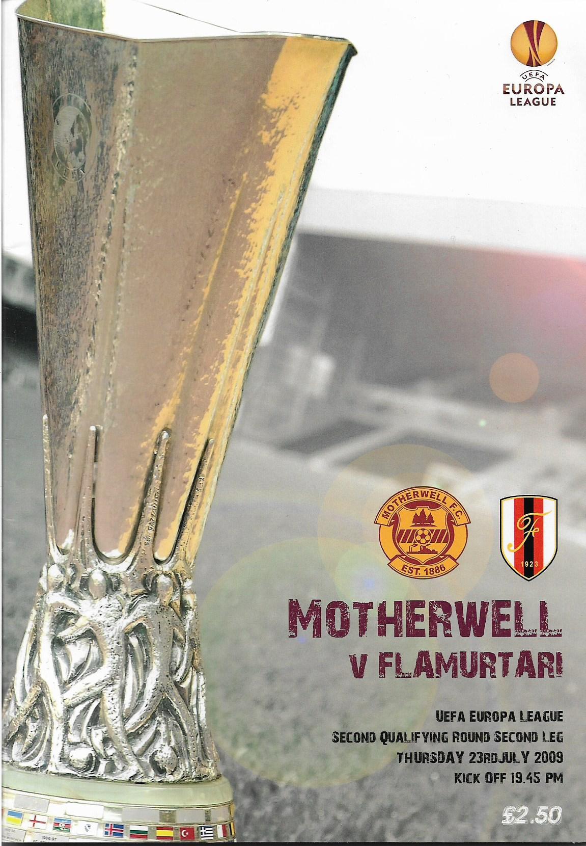 Programme Cover versus Flamurtari Vlore