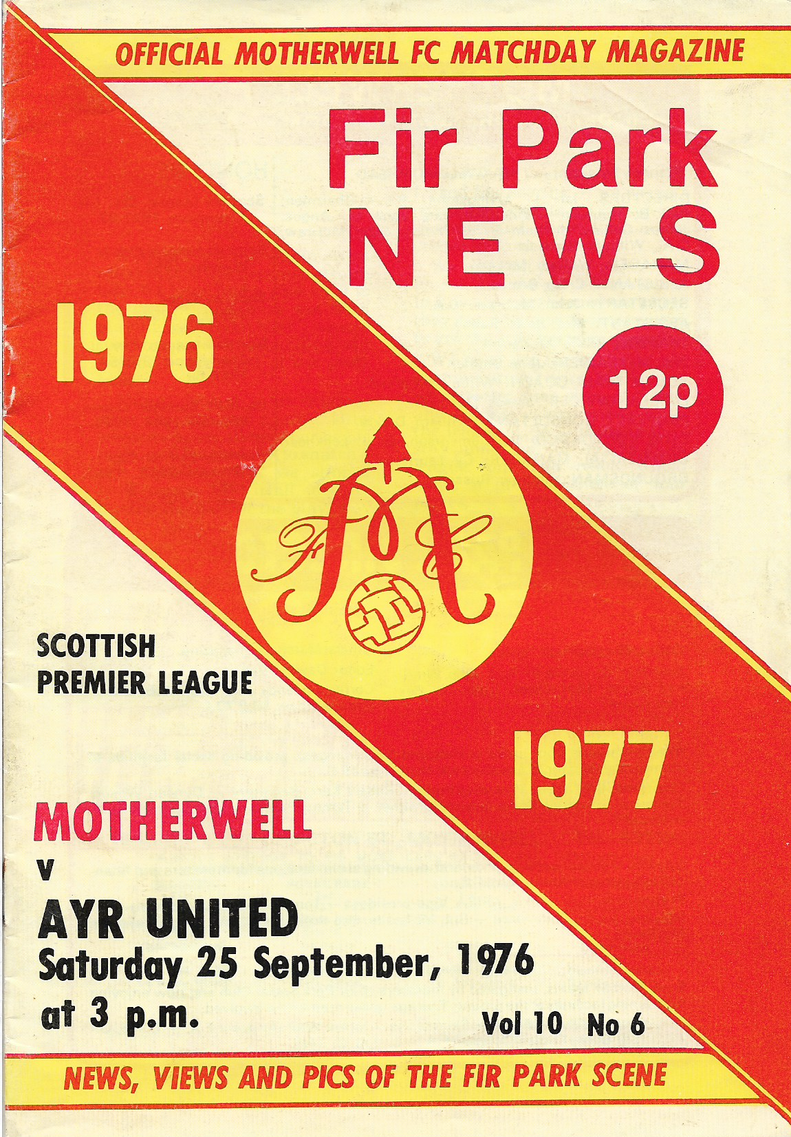 Programme Cover versus Ayr United