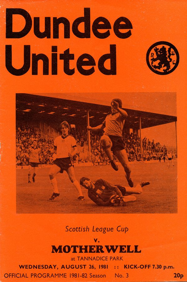 Programme Cover versus Dundee United