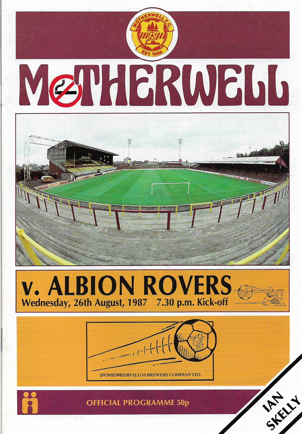 Programme Cover versus Albion Rovers