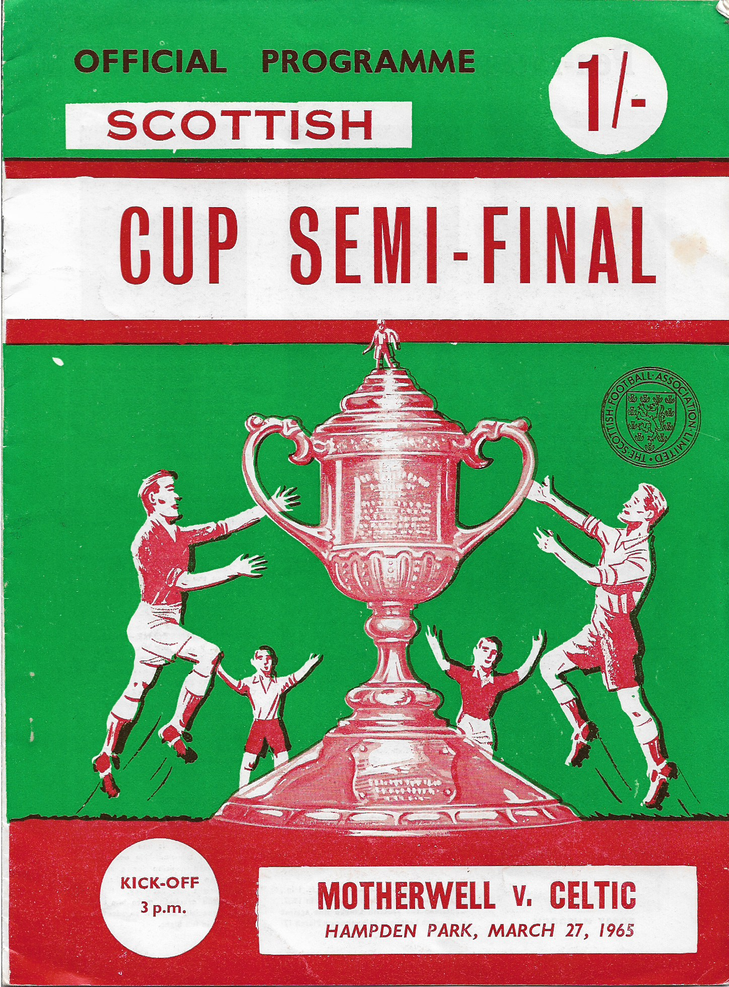 Programme Cover versus Celtic - Scottish Cup Semi-Final 1965