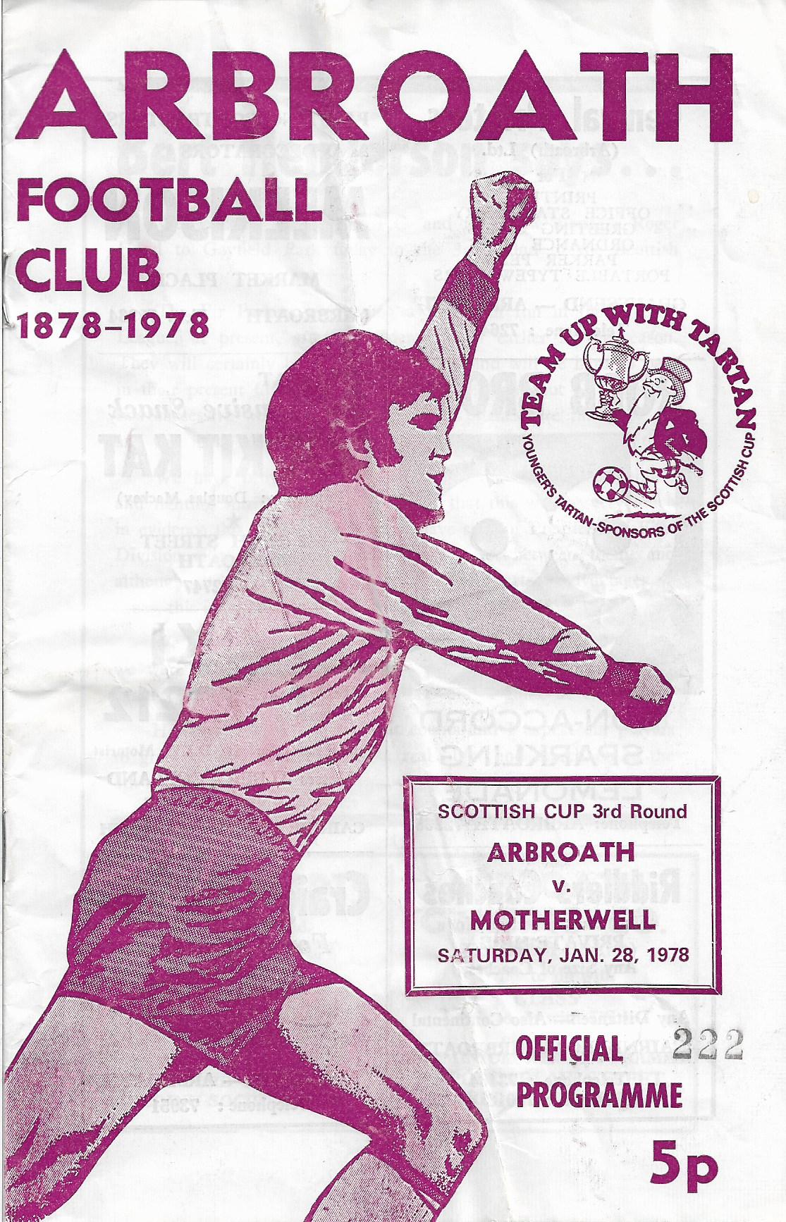 Programme Cover versus Arbroath