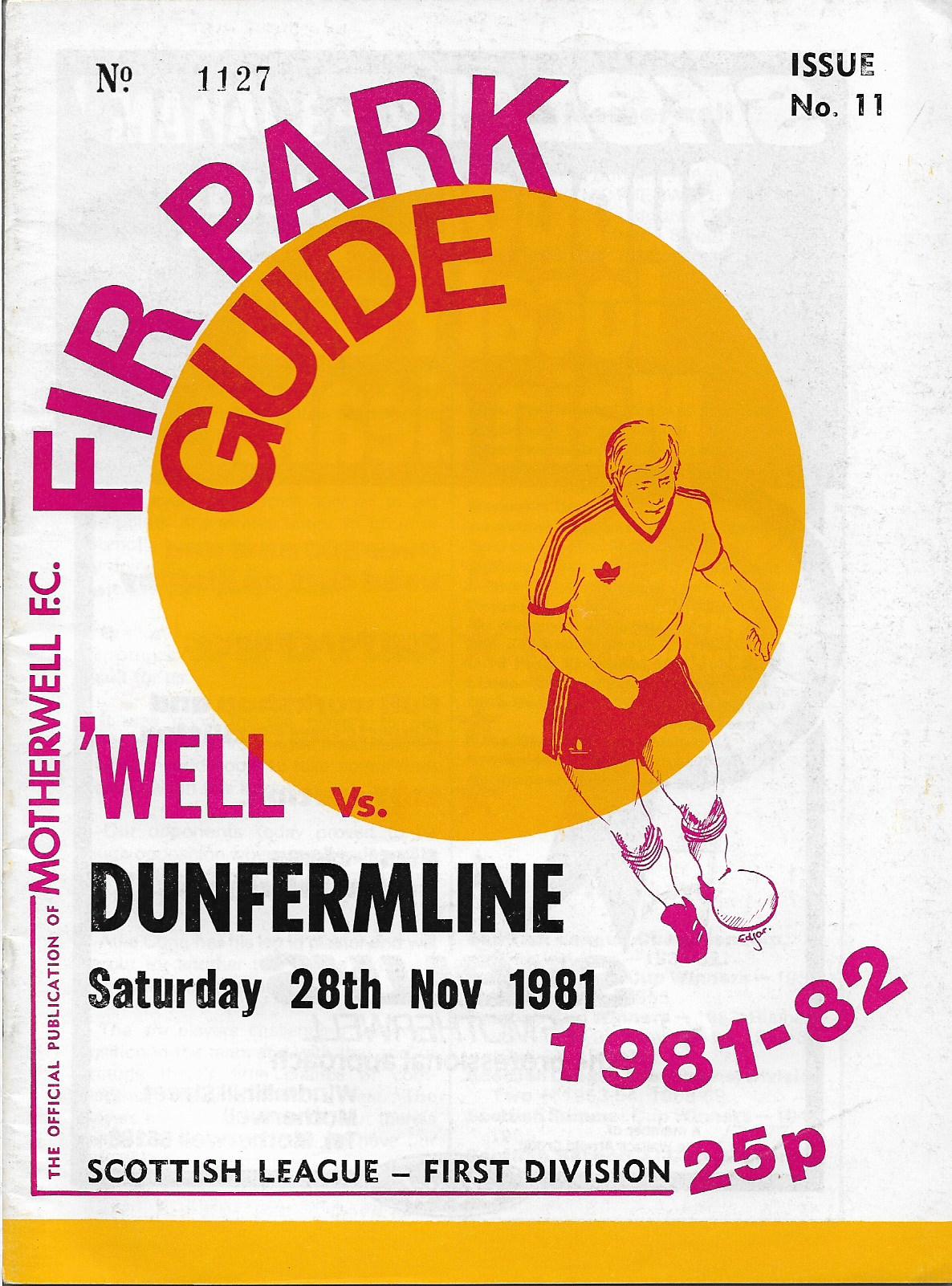 Programme Cover versus Dunfermline