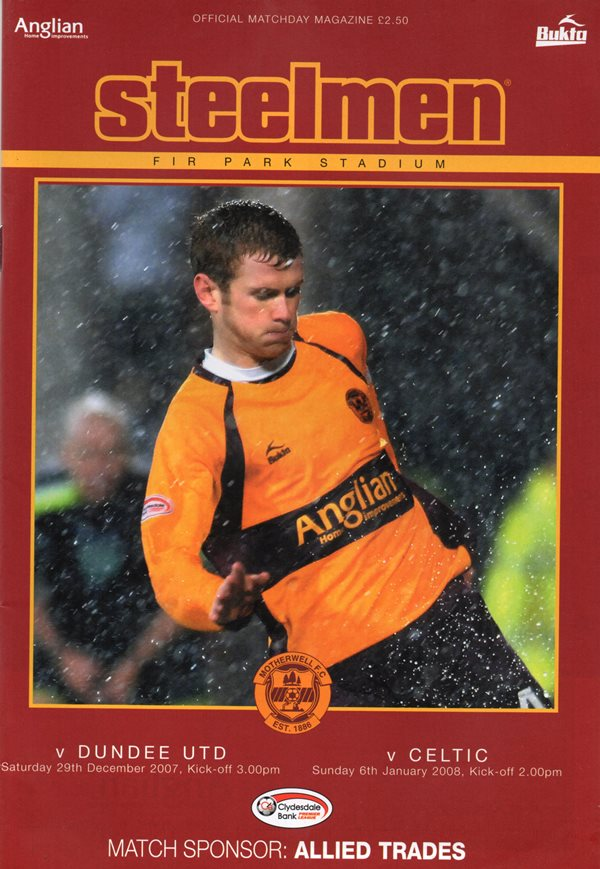 Programme Cover versus Dundee United and Celtic - Double Issue