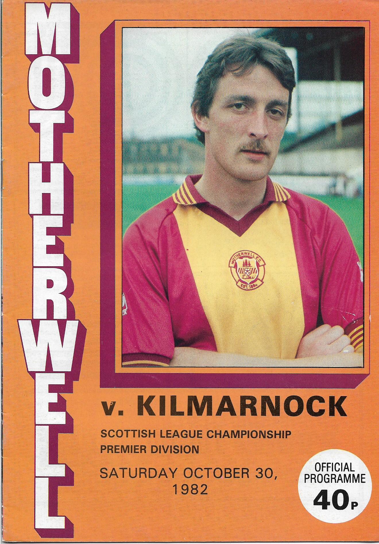 Programme Cover versus Kilmarnock