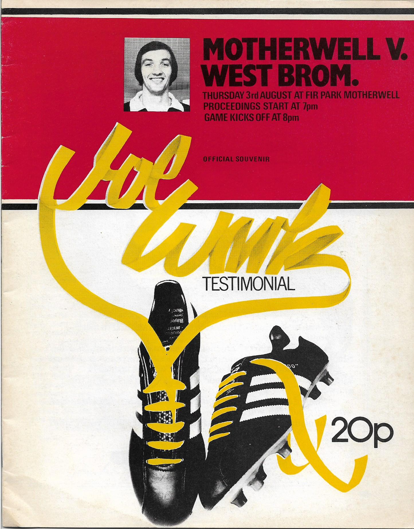 Programme Cover versus West Bromwich Albion - Joe Wark Testimonial