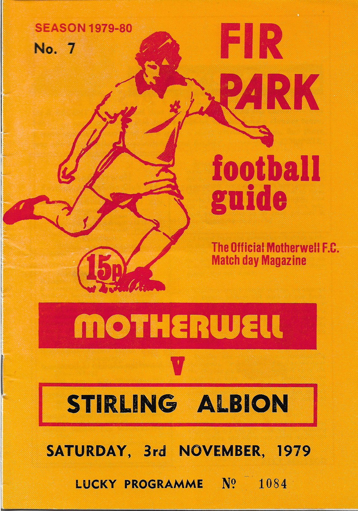 Programme Cover versus Stirling Albion