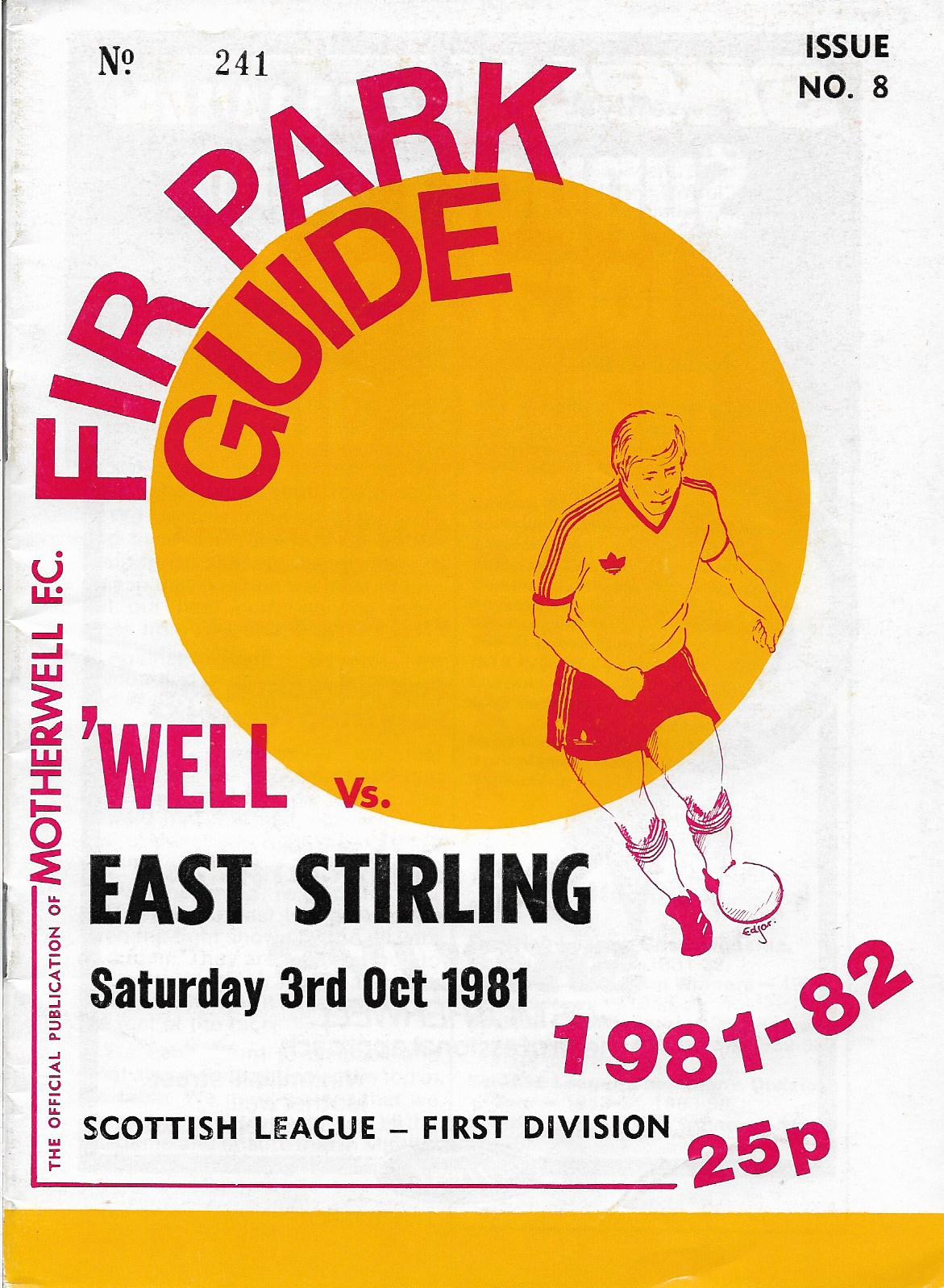 Programme Cover versus East Stirlingshire