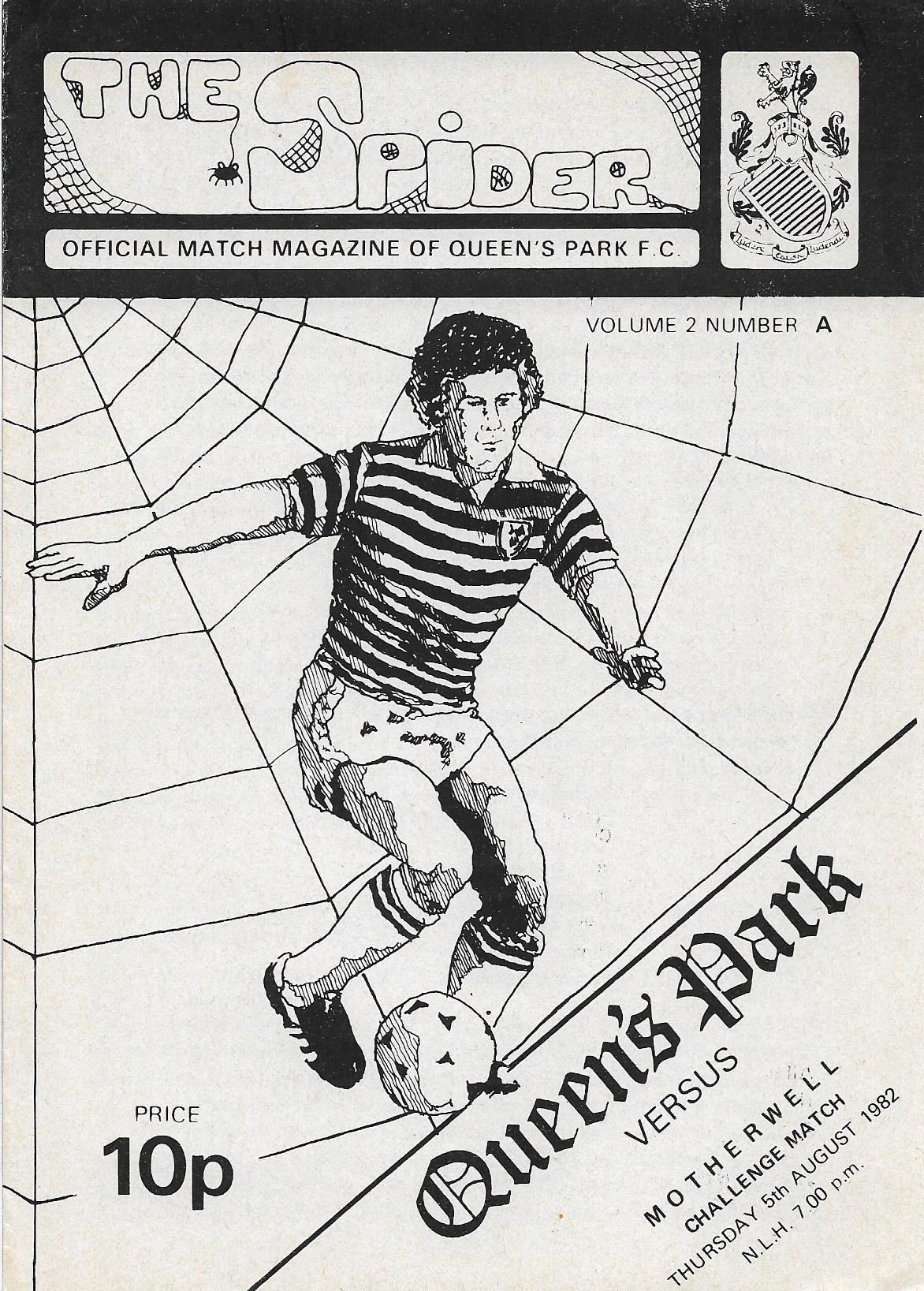 Programme Cover versus Queens Park