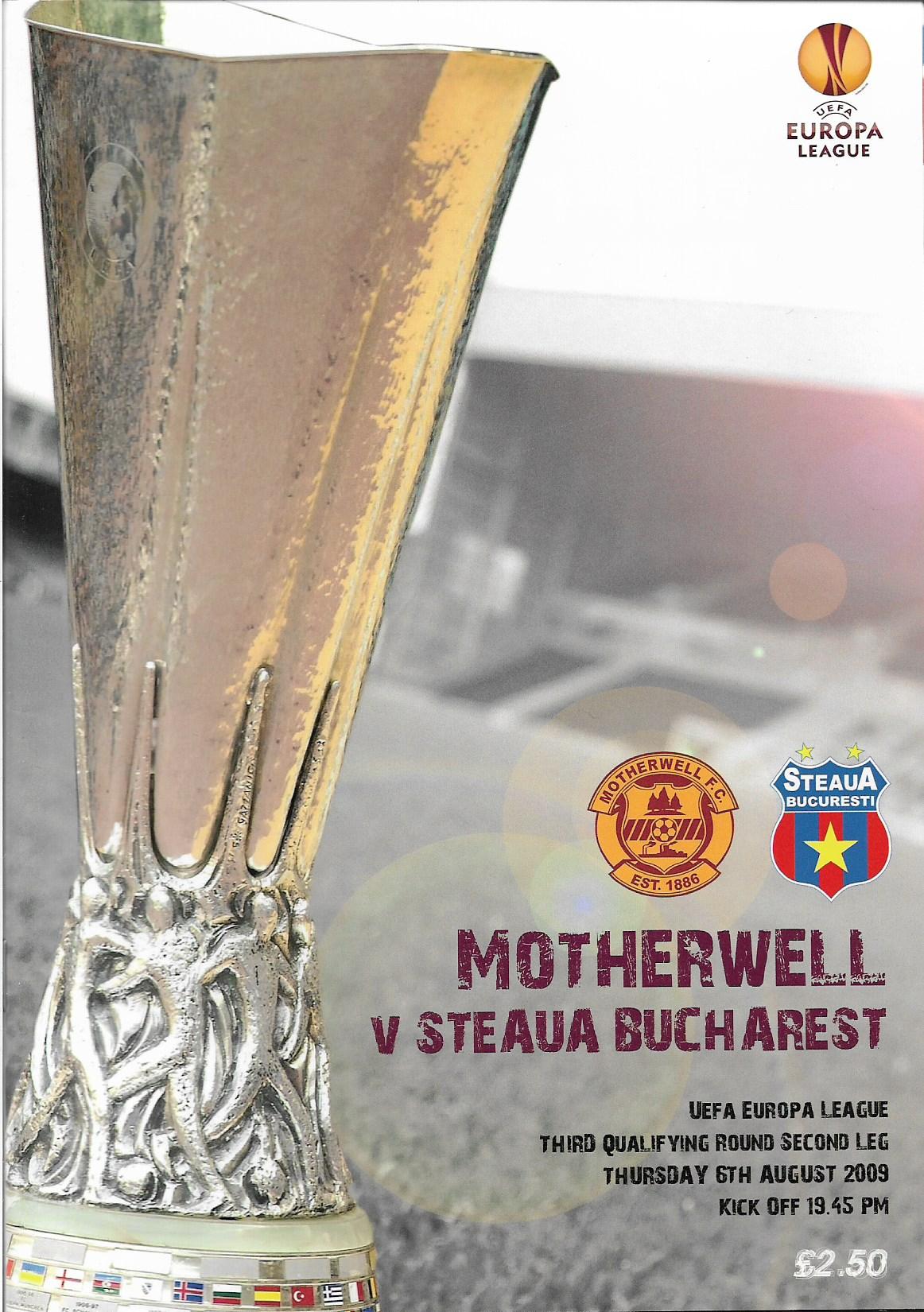 Programme Cover versus Steaua Bucharest