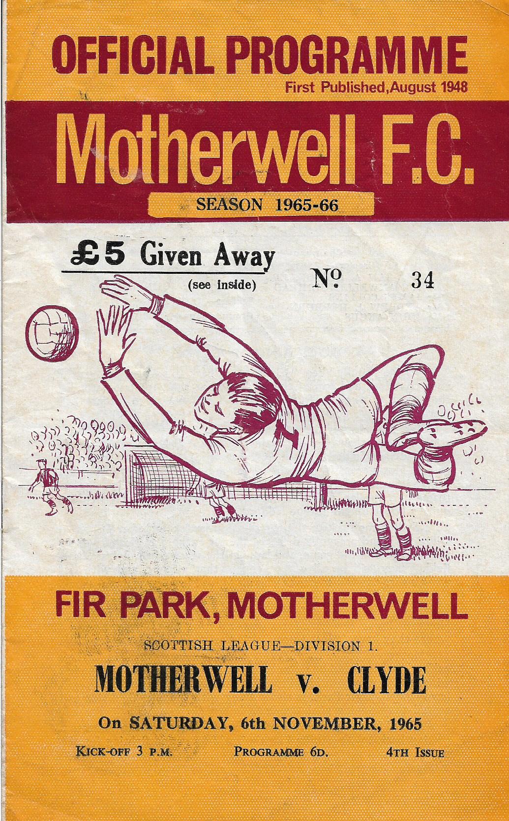 Programme Cover versus Clyde