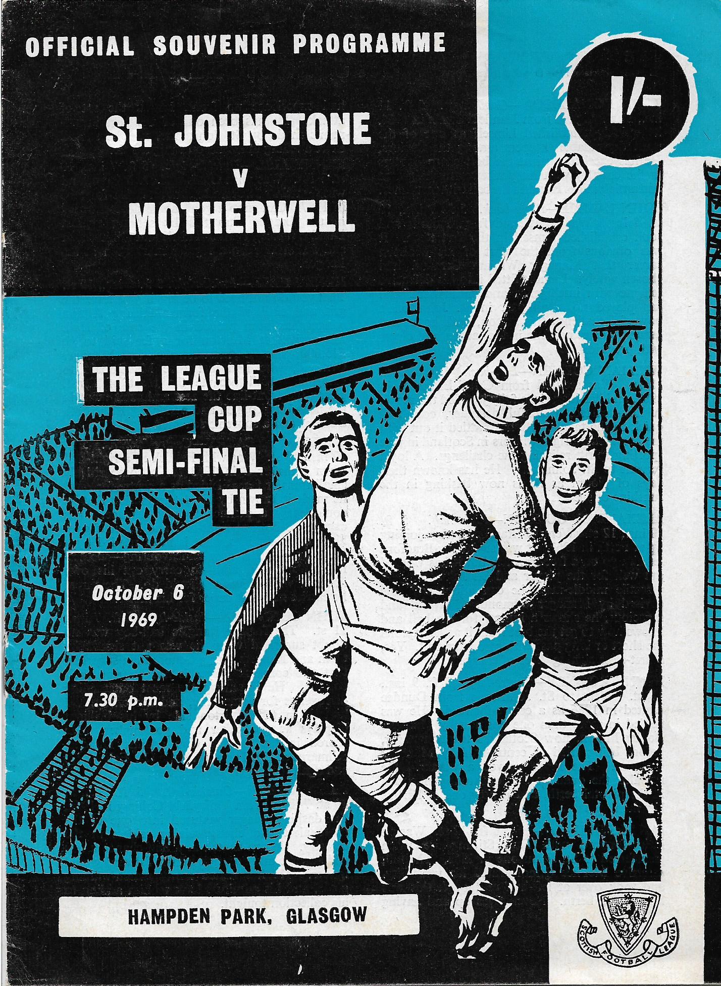 Programme Cover versus St Johnstone - League Cup Semi Final