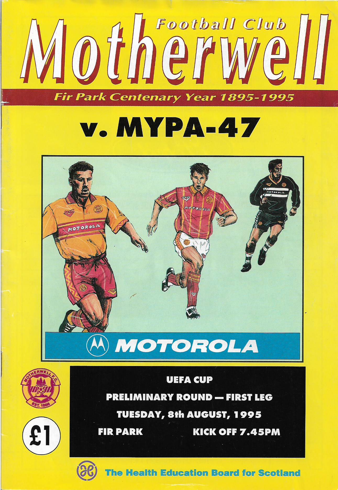 Programme Cover versus Mypa-47