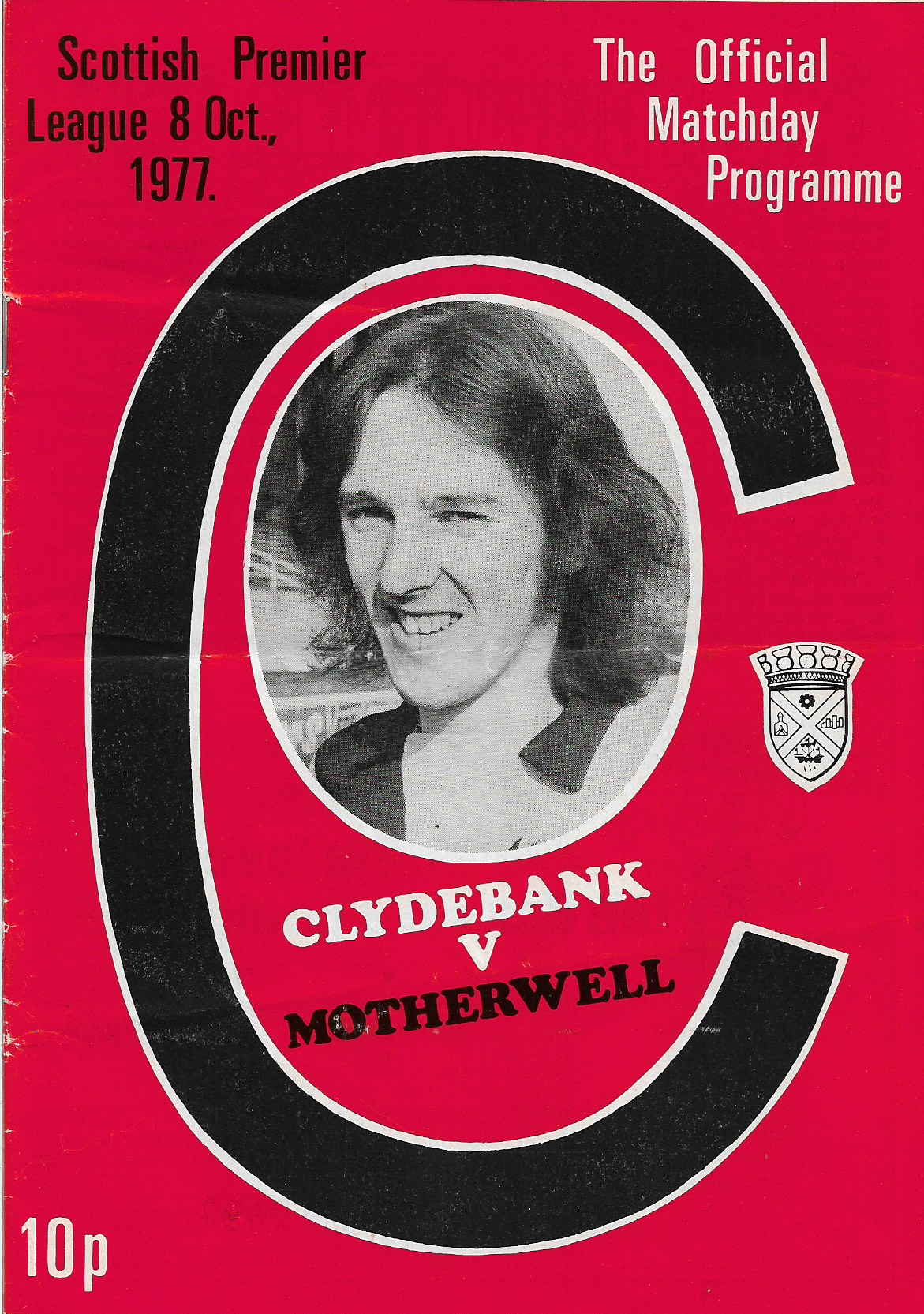 Programme Cover versus Clydebank