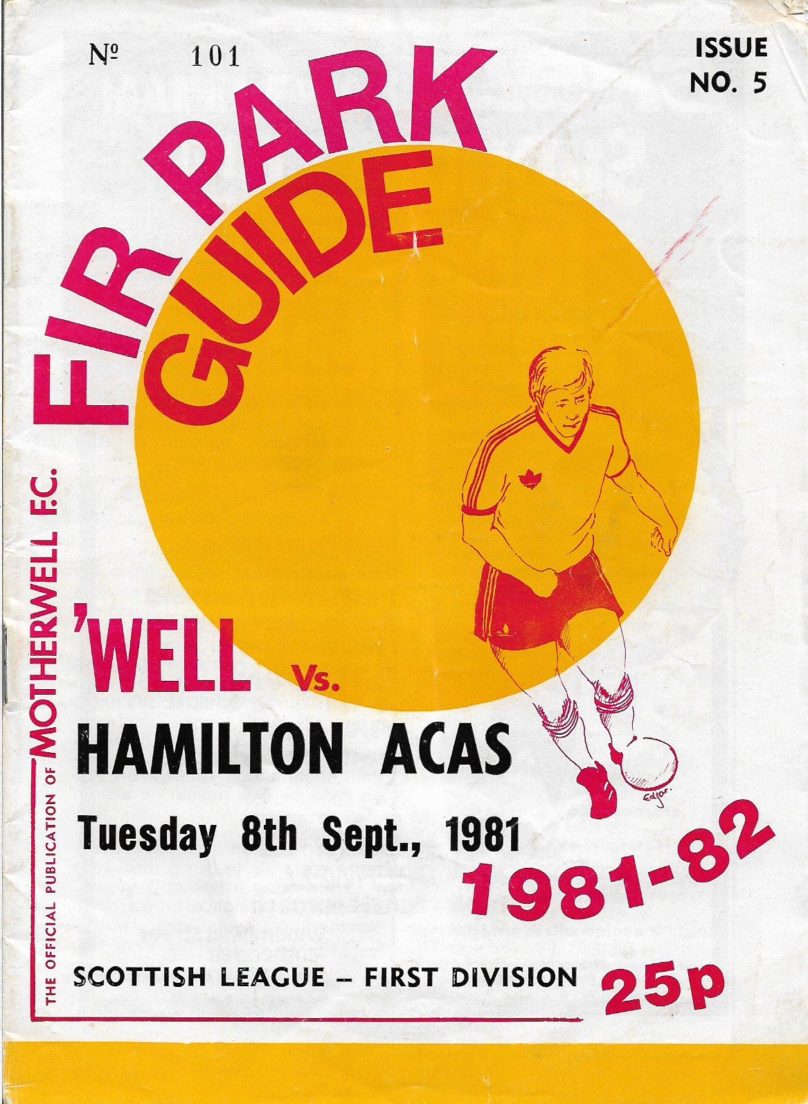 Programme Cover versus Hamilton Accies
