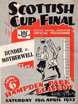 Programme Cover versus Dundee - 1952 Scottish Cup Final