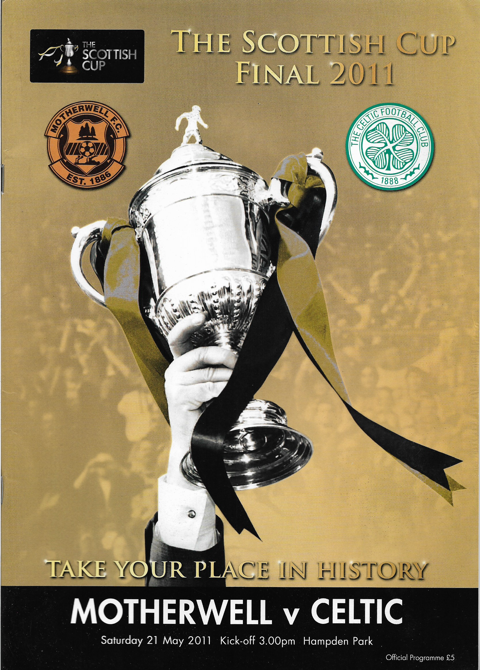 Programme Cover versus Celtic - Scottish Cup Final 2011