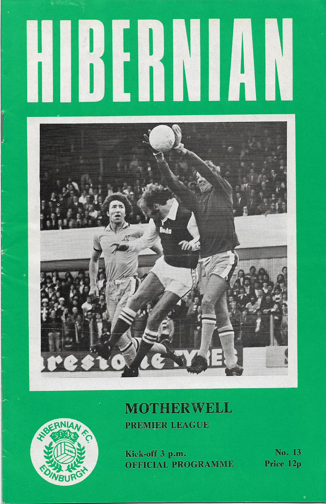 Programme Cover versus Hibernian