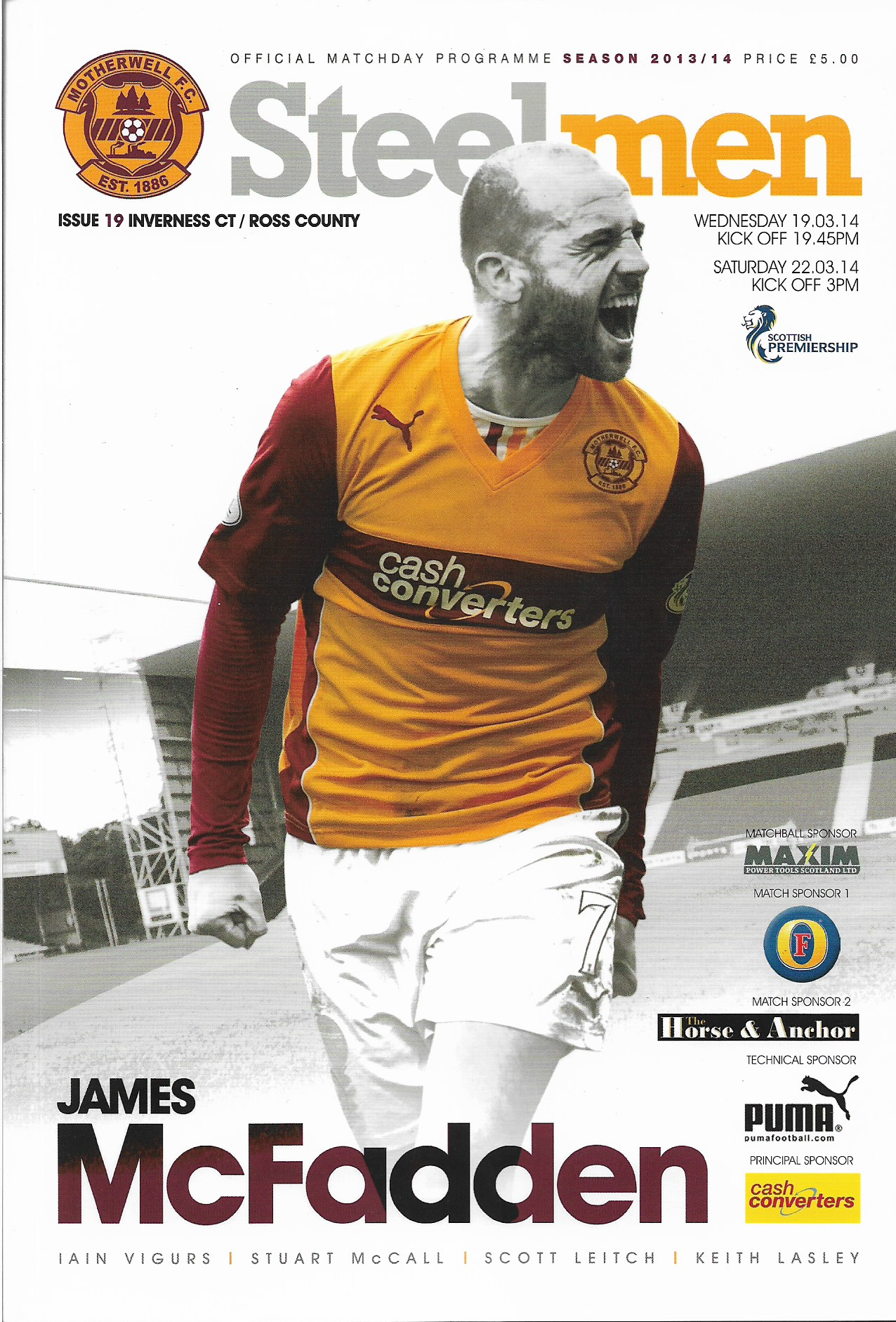 Programme Cover 2013/14
