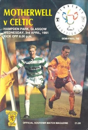 Semi Final Programme Cover 1991 versus Celtic
