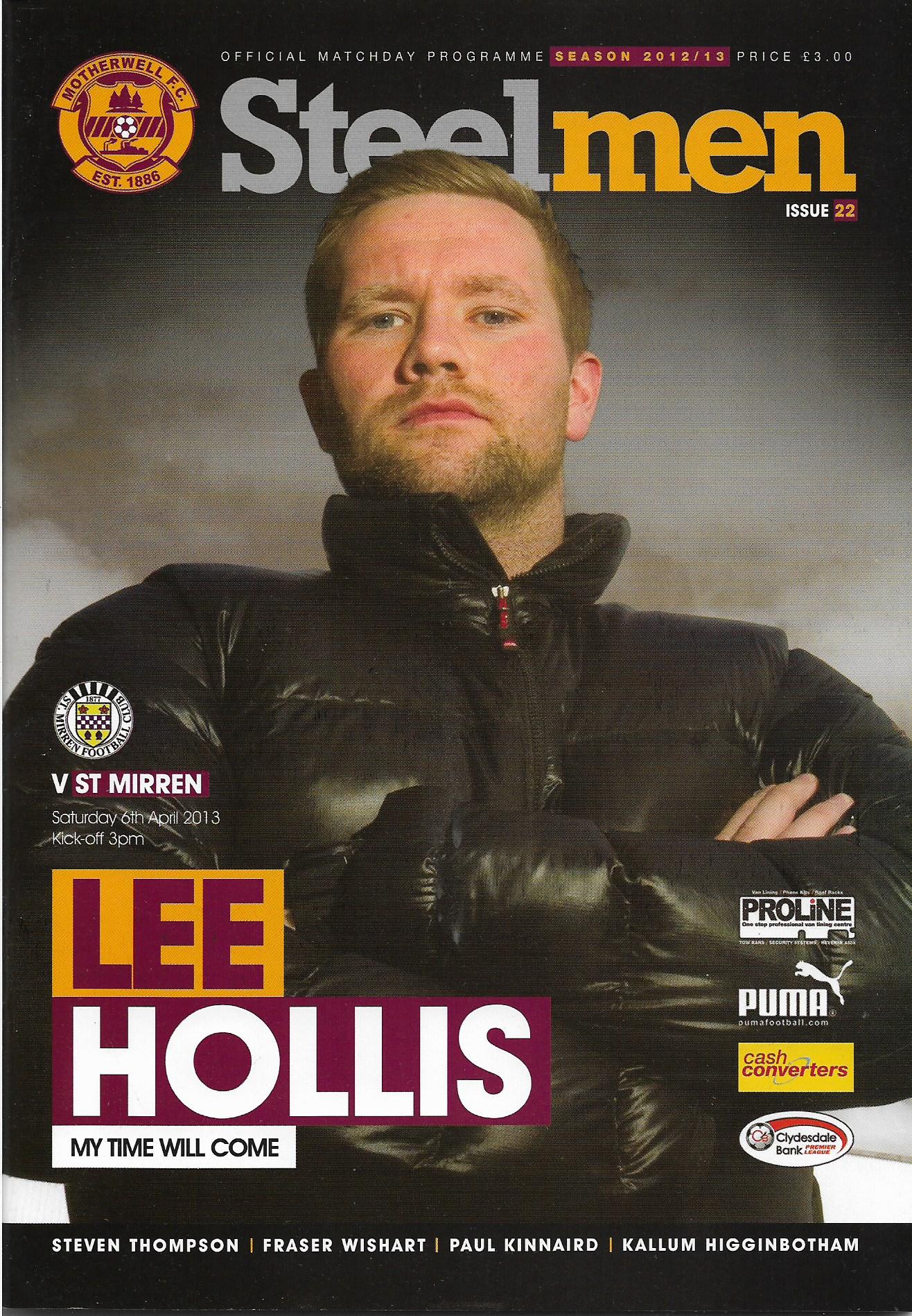 Programme Cover 2012/13 Season