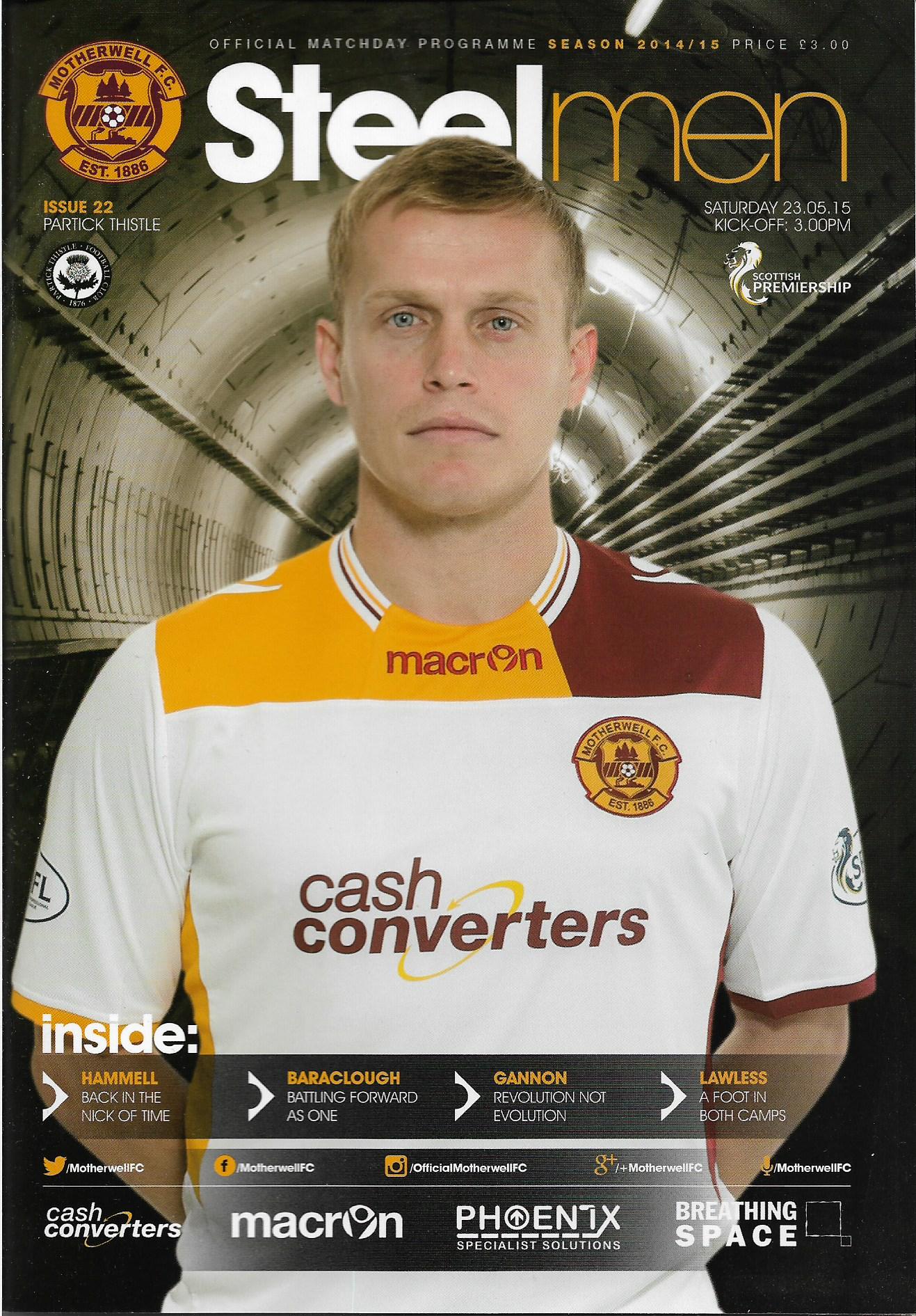 Programme Cover 2014/15 Season