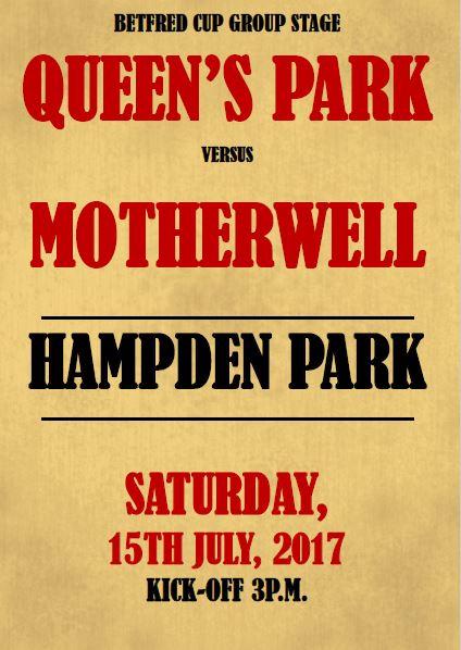 Motherwell Vs Queen's Park - Programme Cover 2017/18