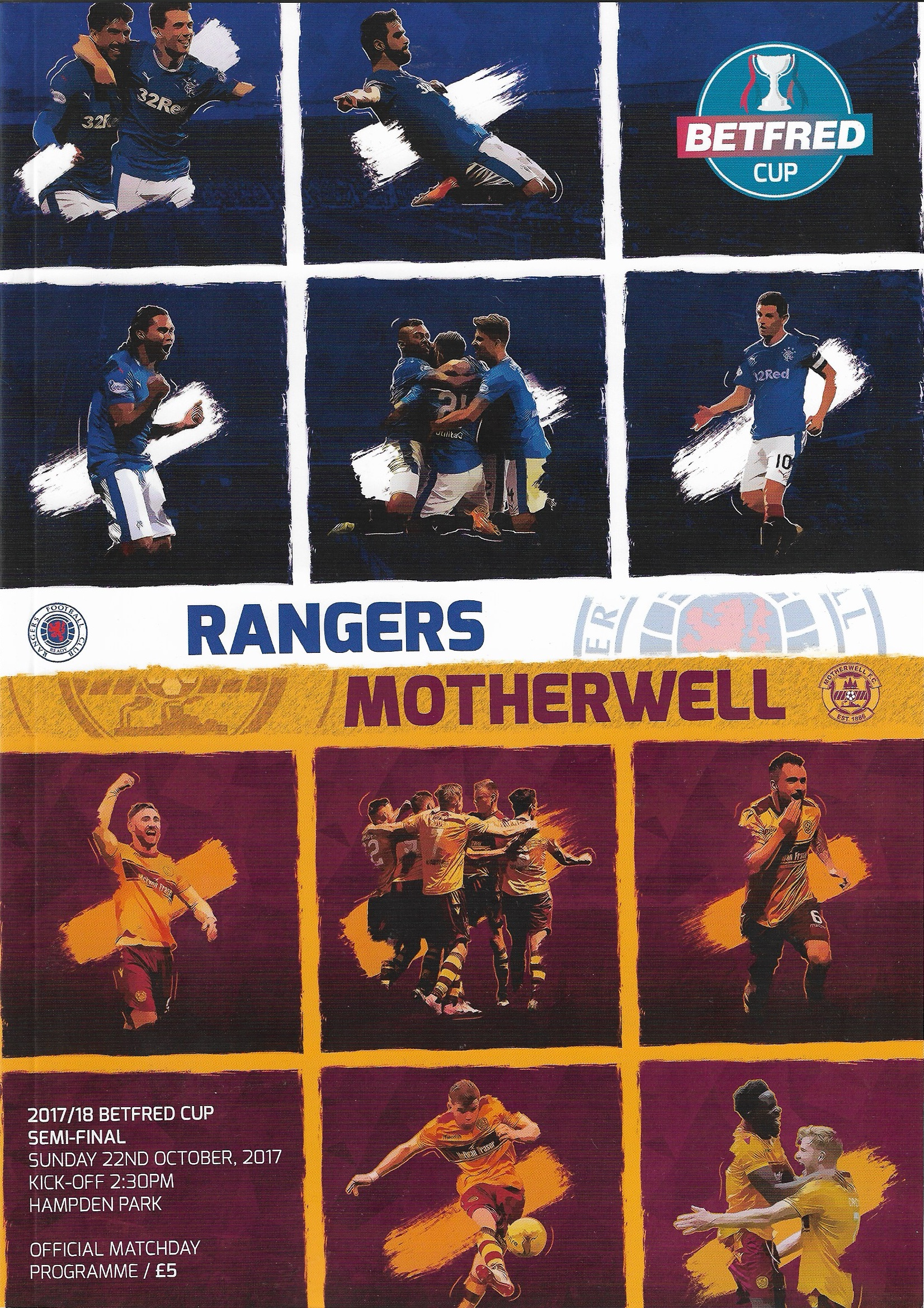 League Cup Semi-Final Programme vs Rangers 2017/18