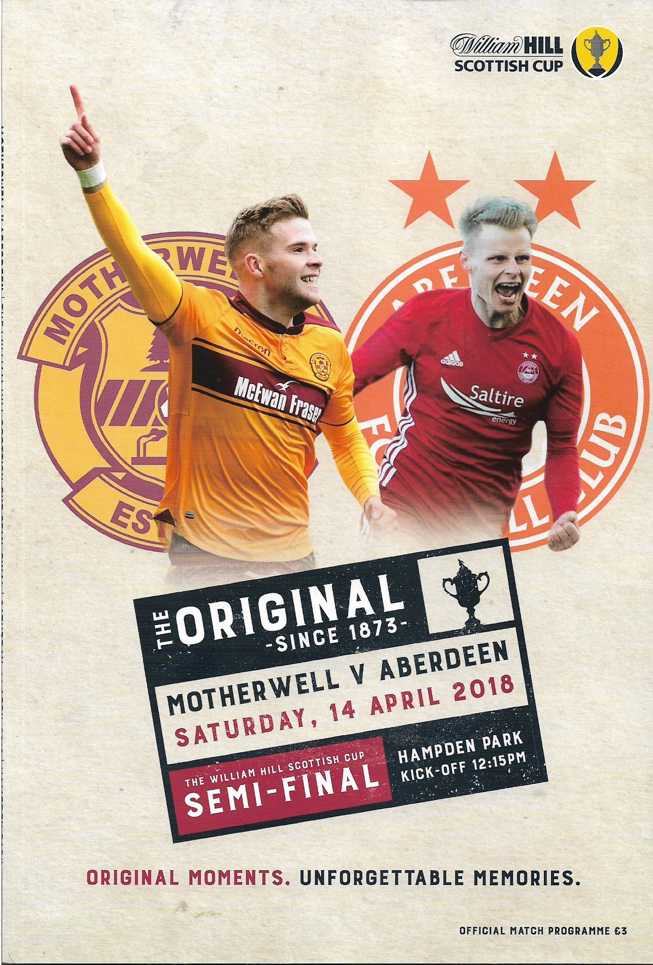 Versus Aberdeen - Scottish Cup Semi Final