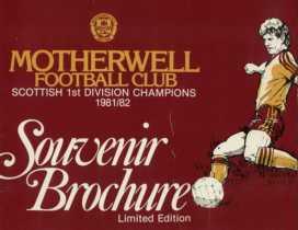 Scottish 1st Division Champions 1981/82 - Souvenir Brochure