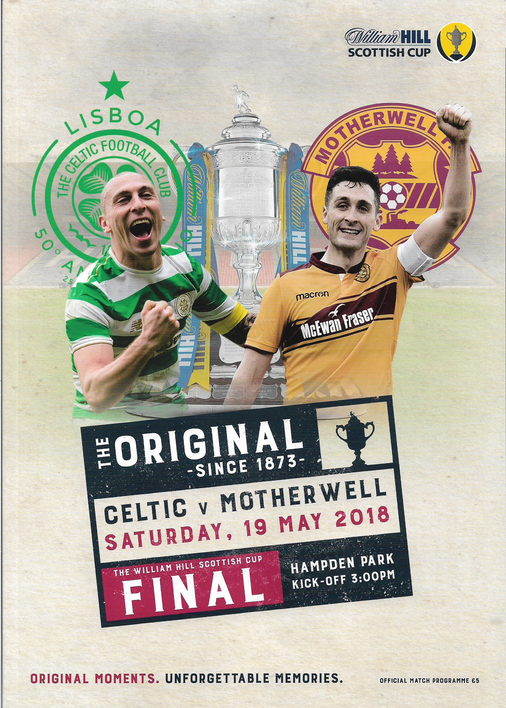 2018 Scottish Cup Final Programme Cover