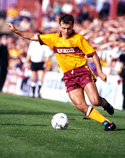 Davie Cooper in action against Dundee - September 1989