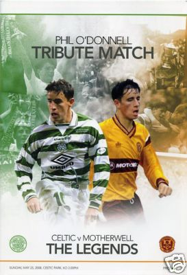Phil O'Donnell Tribute match programme cover