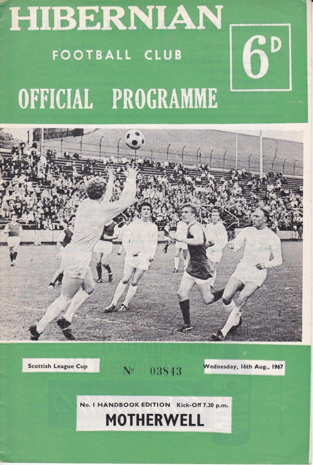 versus Hibernian Programme Cover